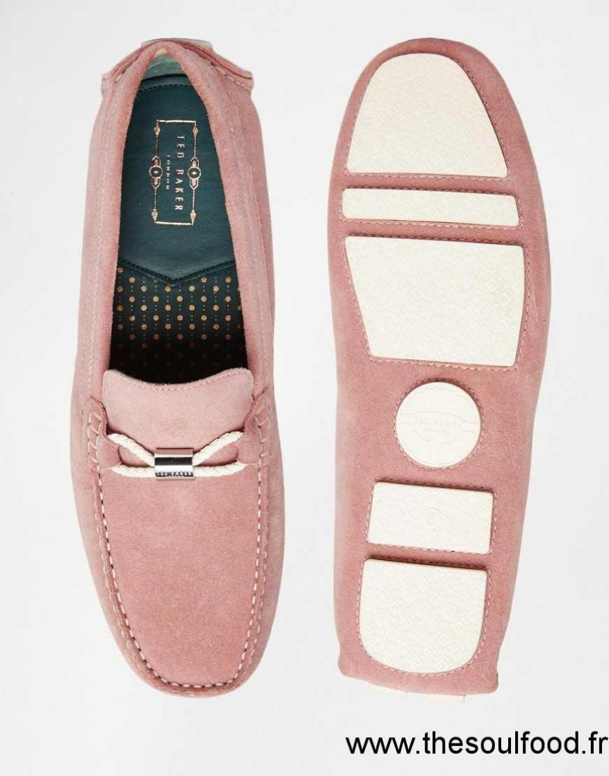 Mocassins homme rose